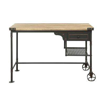 Itzel Sandy Gray and Oak Desk