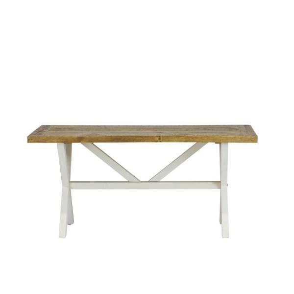 Lux Home Byron Distressed White Solid Reclaimed Wood Coffee Table
