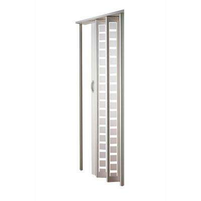 Great Century Aluminum Frosted Square Acrylic Accordion Door