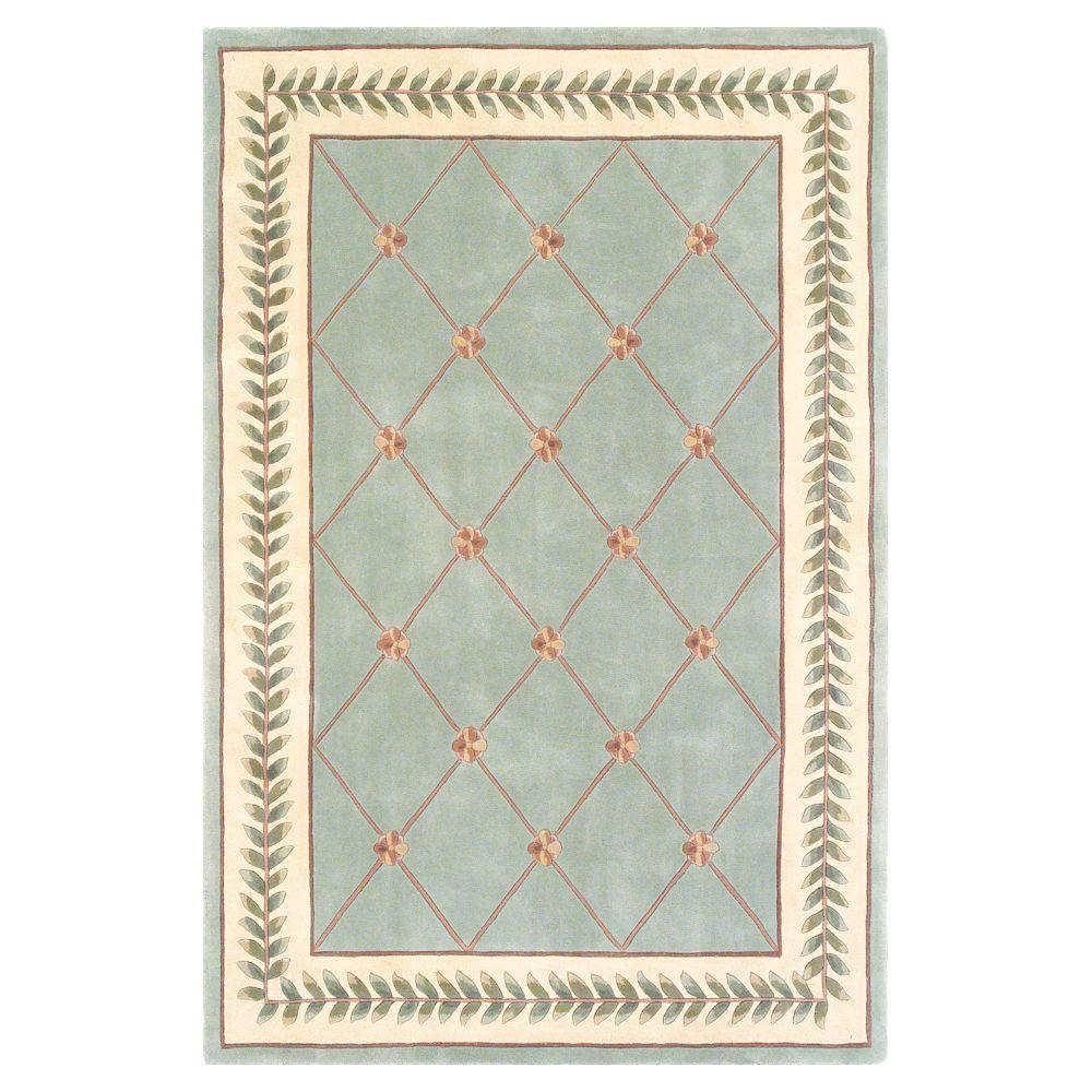 French Trellis Sage/Ivory 3 ft. 3 in. x 5 ft. 3