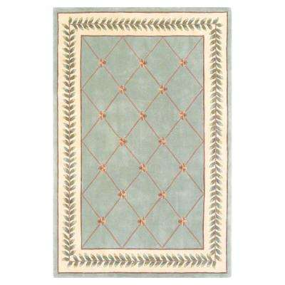 French Trellis Sage/Ivory 3 ft. 3 in. x 5 ft. 3 in. Area Rug