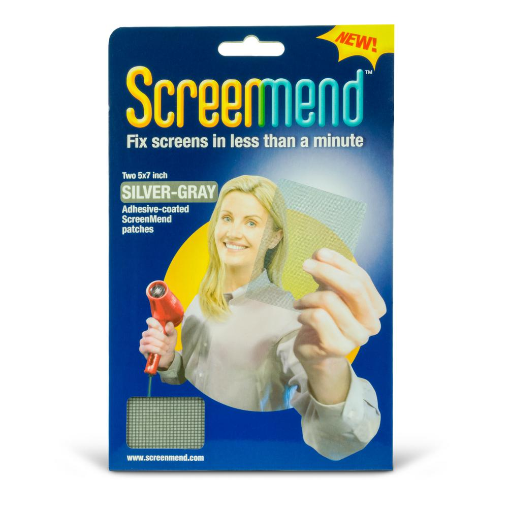 Screenmend 5 In X 7 In Silver Gray Screen Repair Patch 2 Pack