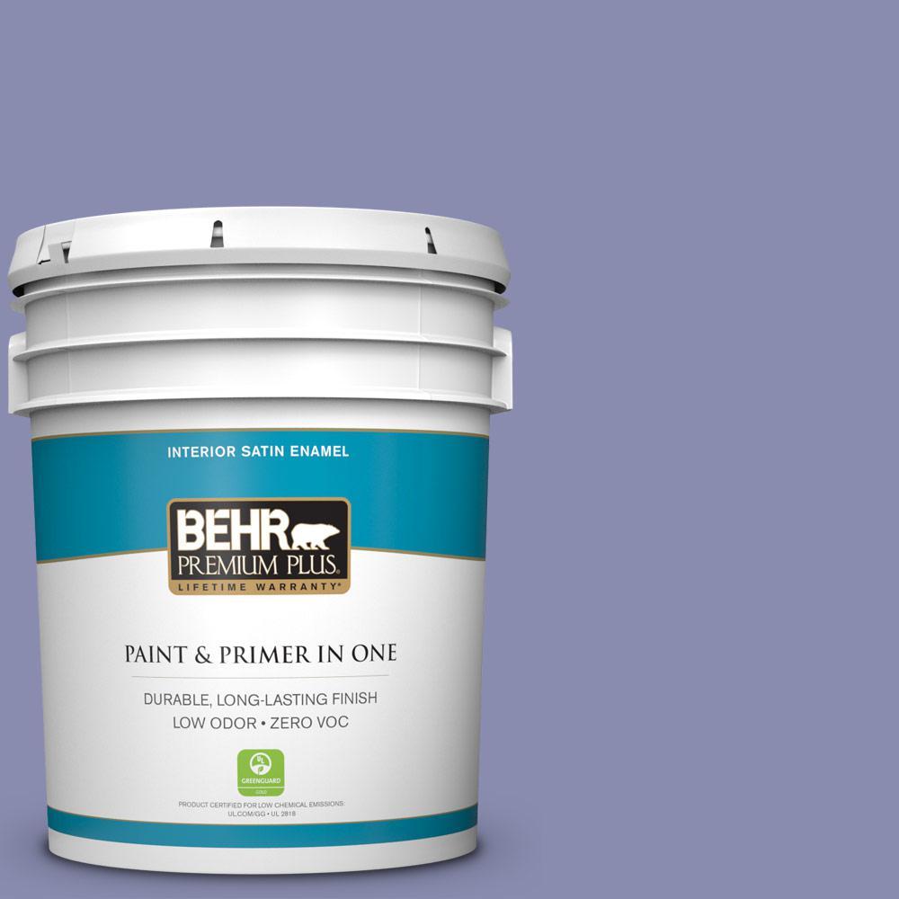 BEHR Premium Plus 5-gal. #M550-5 Violet Aura Satin Enamel Interior Paint