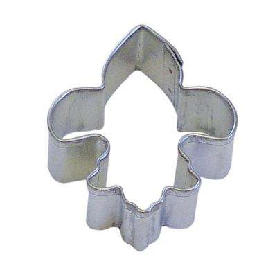 12-Piece Mini Fleur De Lis Tinplated Steel Cookie Cutter & Recipe
