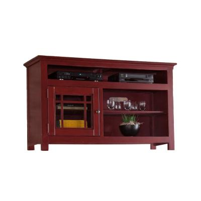 Emerson Hills 54 in. Red Entertainment Console