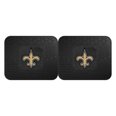 NFL New Orleans Saints Black Heavy Duty 2-Piece 14 in. x 17 in. Vinyl Utility