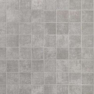 Essential 11.81 in. x 11.81 in. x 10mm Cement Grigio Matte Porcelain Mosaic Floor and Wall Tile (0.97 sq. ft.)
