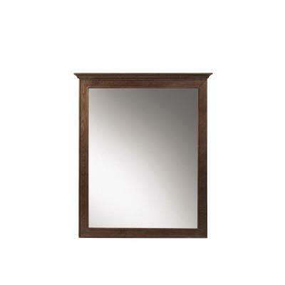 Clinton 28 in. W x 33 in. H Framed Wall Mirror in Antique Coffee