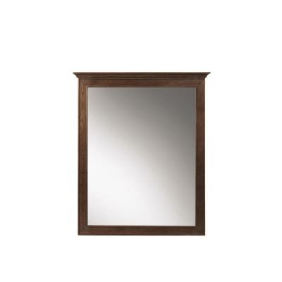 28 in. W x 33 in. H Framed Rectangular  Bathroom Vanity Mirror in Antique Coffee
