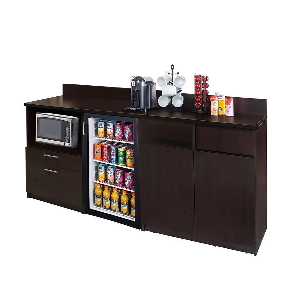 HUE Break Room Furniture Coffee Kitchen Espresso Sideboard With Lunch Break  Room Functionality With Assembled Commercial