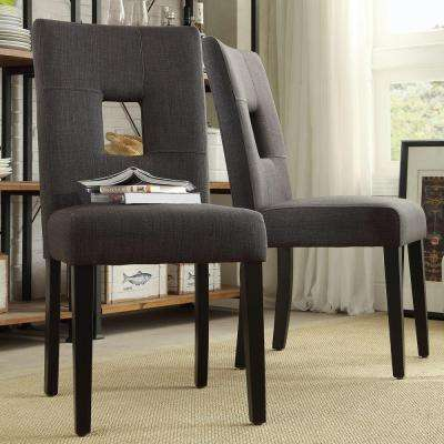 Sorrento Charcoal Linen Dining Chair (Set of 2)