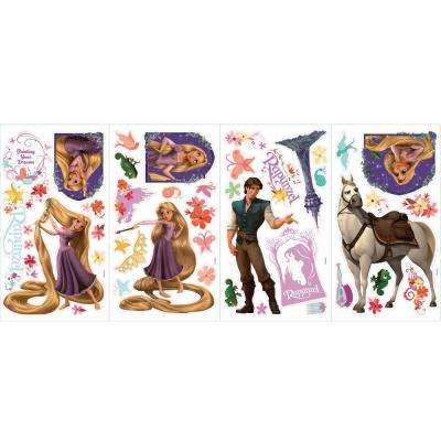 5 in. x 11.5 in. Rapunzel Peel and Stick Wall Decals (46-Piece)