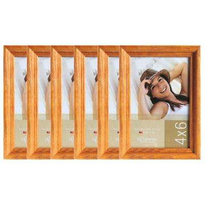 6-Opening 4 in. x 6 in. Picture Frame