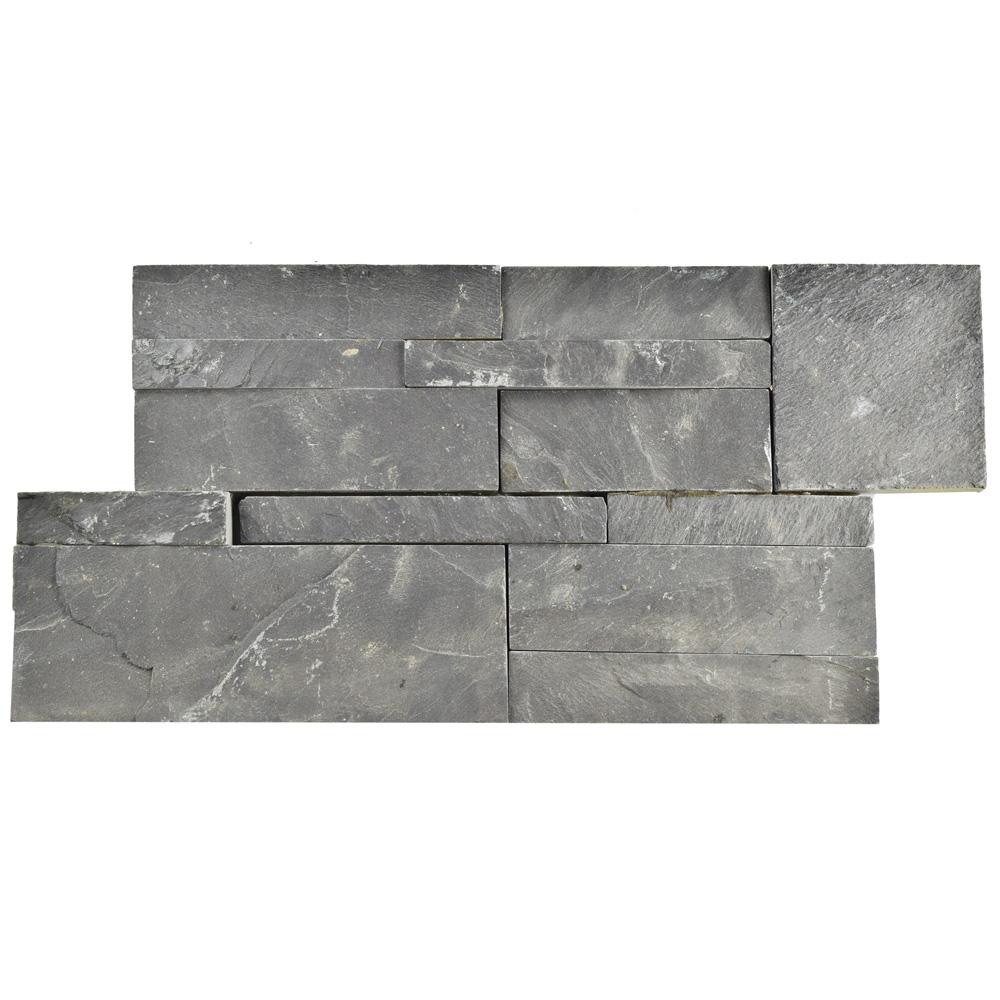 Black Slate Flooring: Merola Tile Ledger Panel Black Slate 7 In. X 13-1/2 In. Natural Stone Wall Tile (6 Cases / 31.5