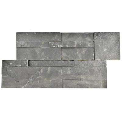 Ledger Panel Black Slate 7 in. x 13-1/2 in. Natural Stone Wall Tile (6 cases / 31.5 sq. ft. / pallet)