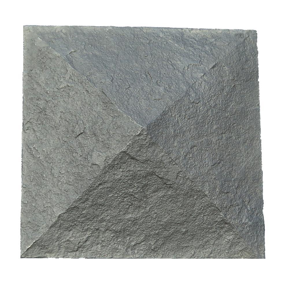 NextStone Sandstone 18 in. x 18 in. Charcoal Faux Polyurethane Stone Column Wrap Cap