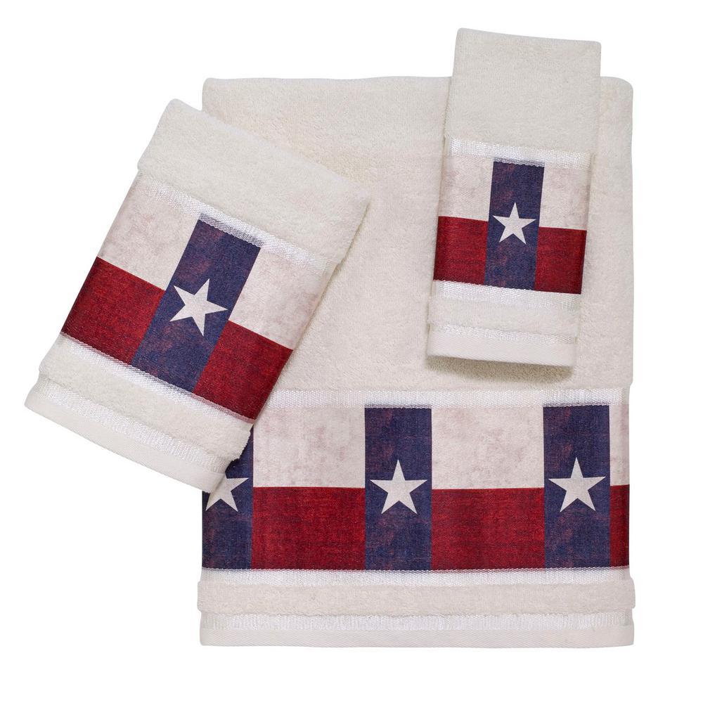 Avanti Linens Texas Star 3 Piece Bath Towel Set In Multicolor 032186