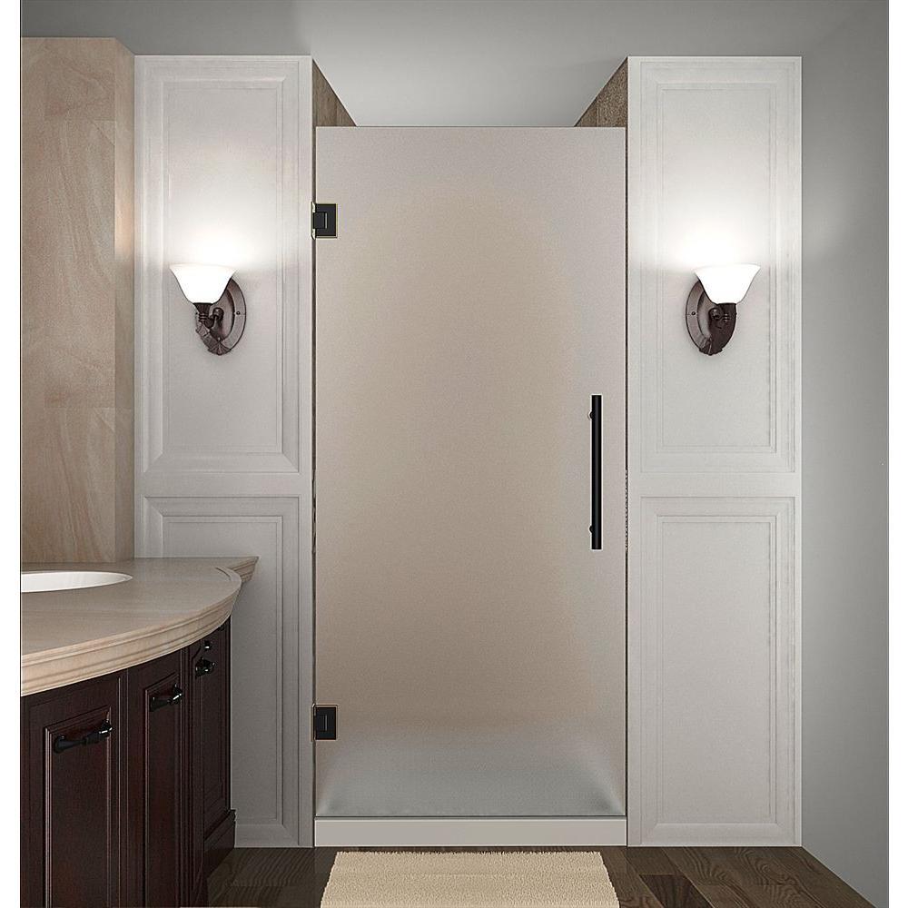 Cascadia 33 in. x 72 in. Completely Frameless Hinged Shower Door