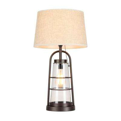 22 in. Arstill Antique Bronze Table Lamp