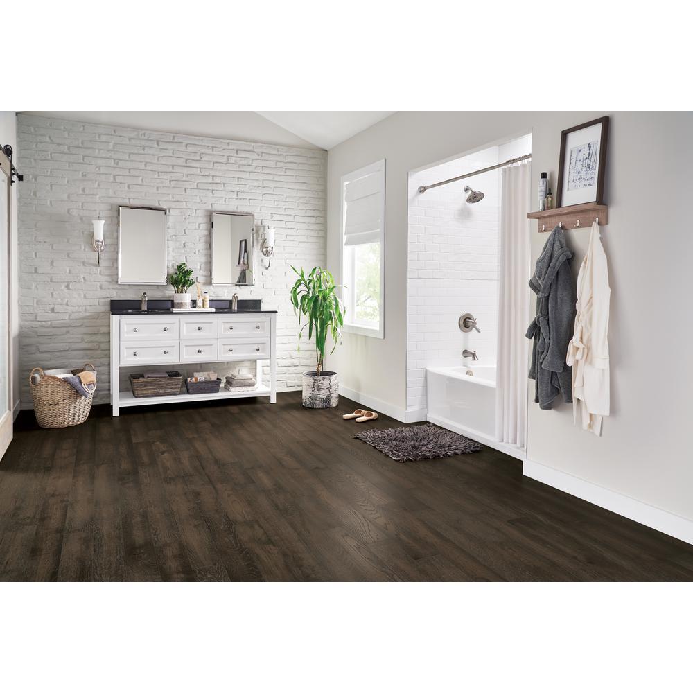 Hydropel Oak Dark Brown 7/16 in. T x 5 in. W x Varying Length Waterproof Engineered Hardwood Flooring (22.6 sq. ft.)