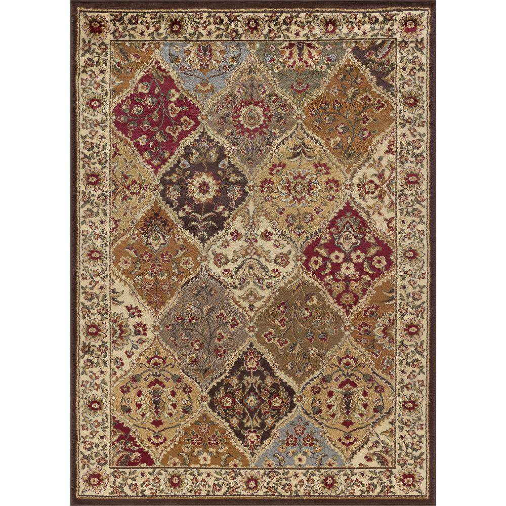 tayse rugs elegance multi 8 ft x 10 ft traditional area rug elg5120 8x10 the home depot. Black Bedroom Furniture Sets. Home Design Ideas
