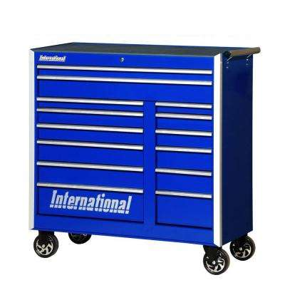 Pro Series 42 in. 14-Drawer Cabinet, Blue