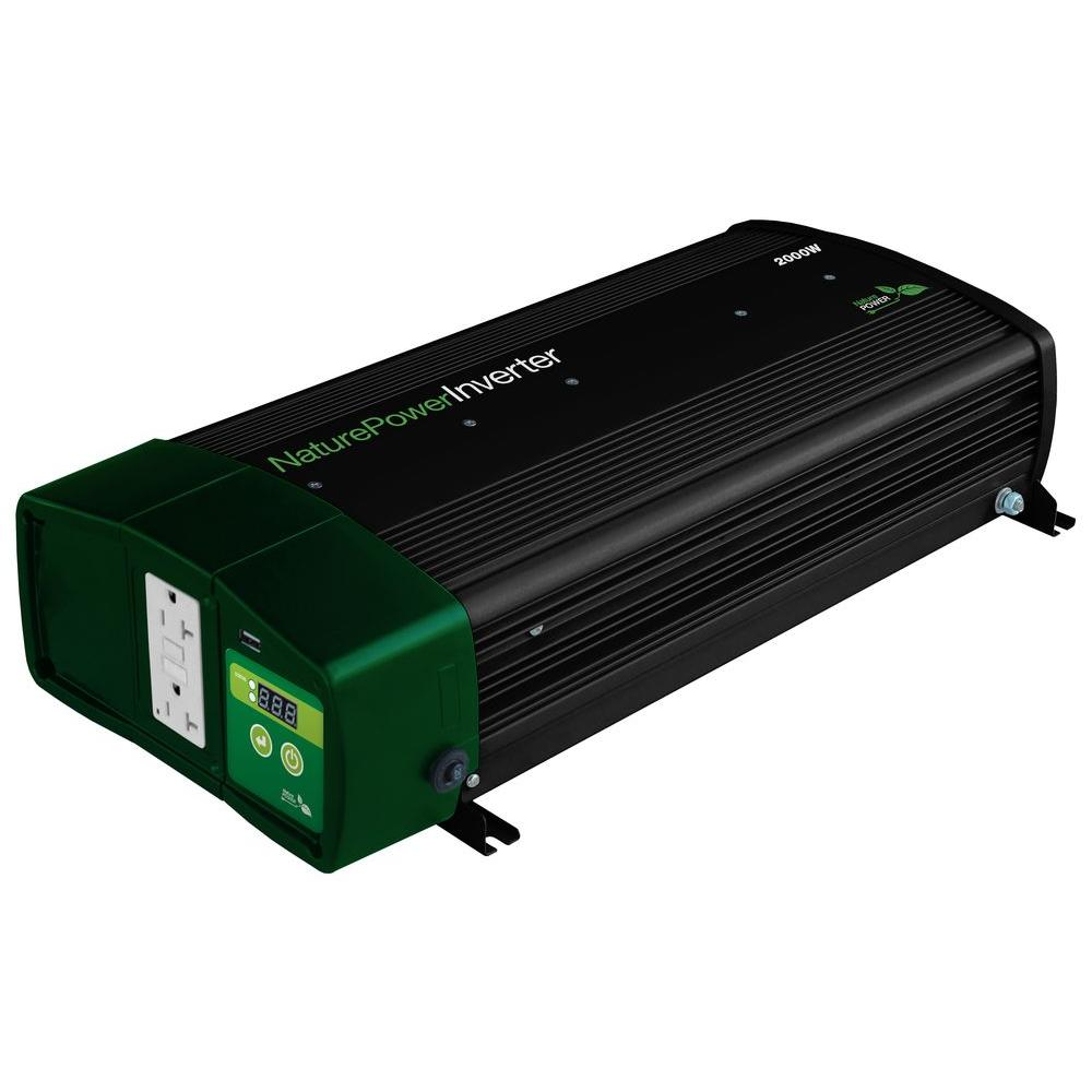 Nature Power 400 Watt Pure Sine Wave Inverter 38304 The Home Depot How To Make A Simple 200 Modified Circuit 2000 With 55 Amp Charger