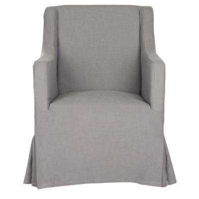 Sandra Arctic Gray/Java Cotton Blend Arm Chair