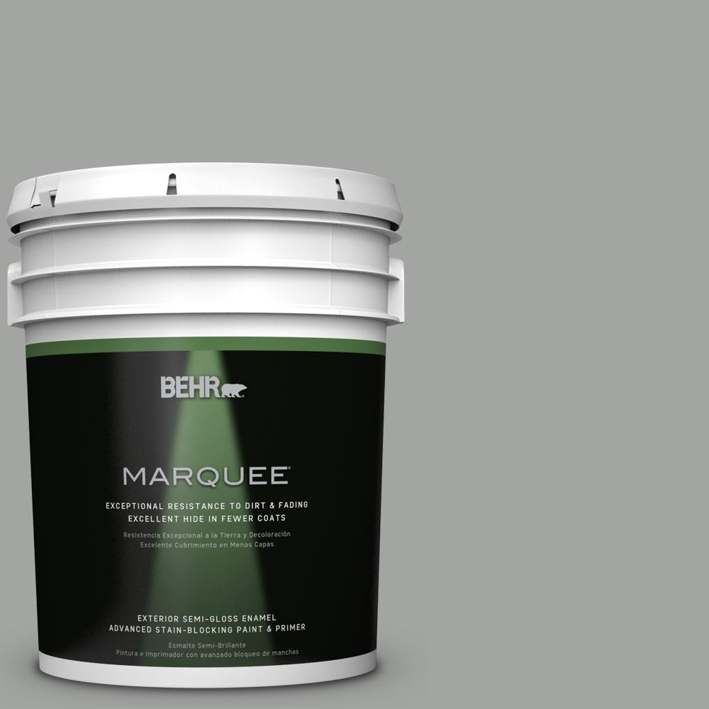 5 gal. #PPU24-18 Great Graphite Semi-Gloss Enamel Exterior Paint