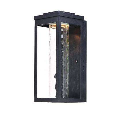 Salon 1-Light Black Integrated LED Outdoor Wall Lantern Sconce