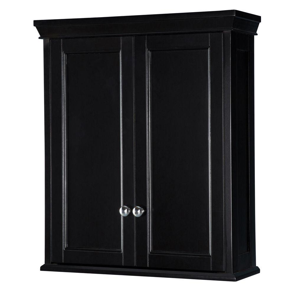 Haven 24-3/4 in. W Bathroom Storage Wall Cabinet in Classic Espresso