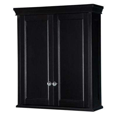 Haven 23 1/2 in. W Bathroom Storage Wall Cabinet in Espresso