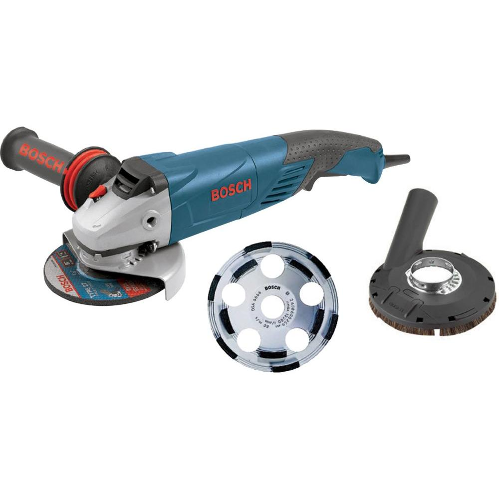 Bosch 9 5 Amp Corded 5 In Surface Concrete Grinder Kit