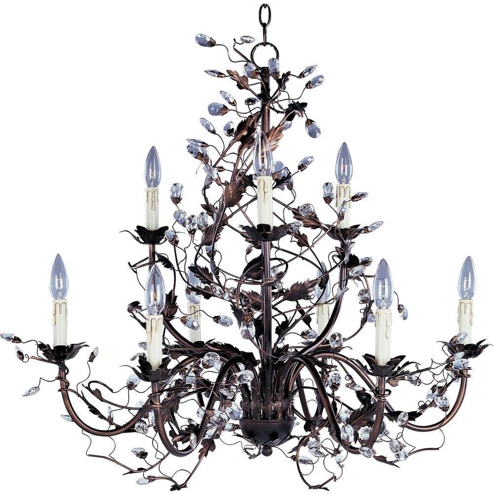 Elegante 9-Light Oil-Rubbed Bronze Chandelier