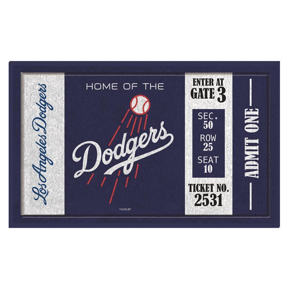 Los Angeles Dodgers 30 in. x 18 in. Vinyl Indoor/Outdoor Turf Floor Mat