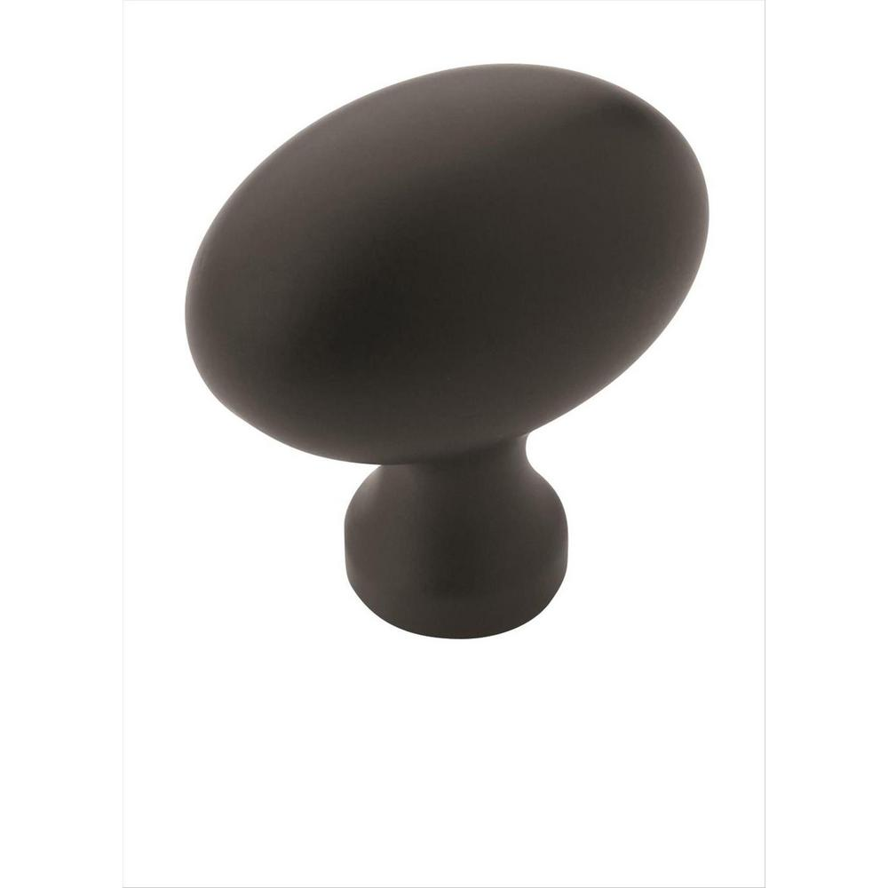 Amerock Allison Value 1-3/8 in (35 mm) Length Flat Black Cabinet Knob