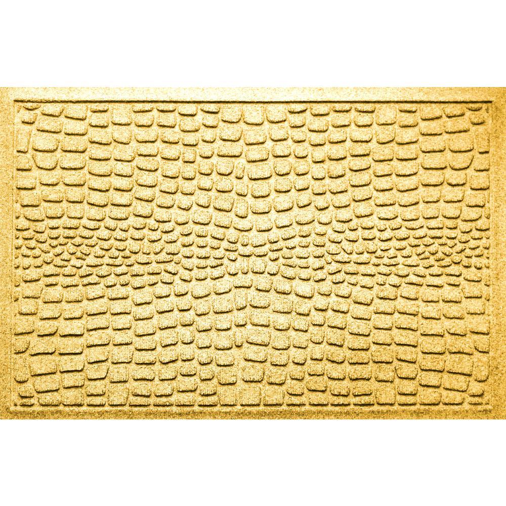 Alligator Yellow 24 in x 36 in Polypropylene Door Mat