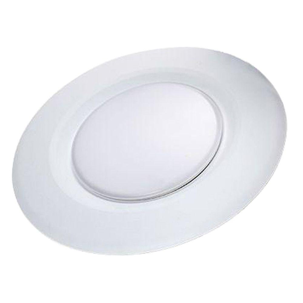 Commercial Electric 4 in. Soft White Recessed LED Can Disk Light (E)*