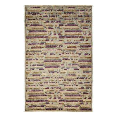 Arts Silver 5 ft. x 8 ft. Indoor Area Rug