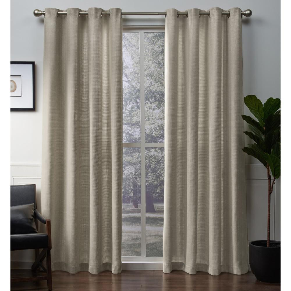 e3673ac90b6258 L Metallic Sheen Grommet Top Curtain Panel in Gold (2 Panels)-EH8232-03  2-96G - The Home Depot
