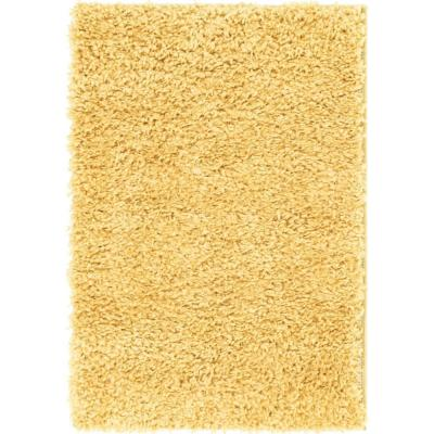 Unique Loom Davos Shag Sunglow Yellow 2 ft. x 3 ft. Accent Rug