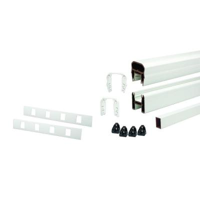 Transcend 91.5 in. Composite Classic White Horizontal Rail Kit with 19 Balusters