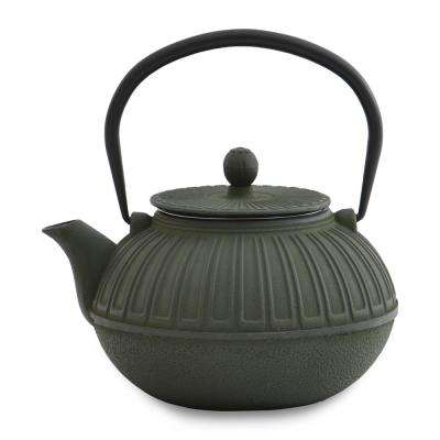 Studio 3.6-Cup Green Cast Iron Teapot