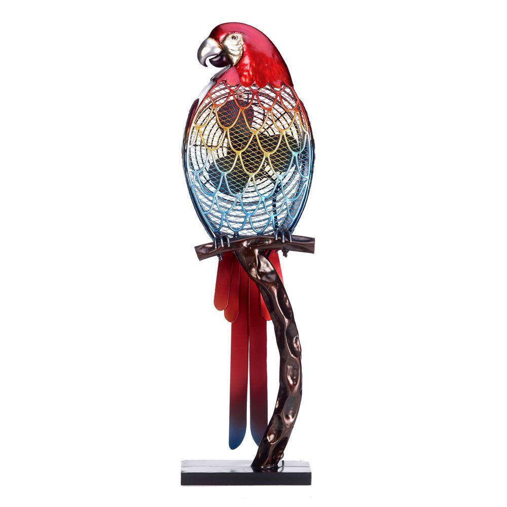 7 in. Figurine Fan-Parrot Color