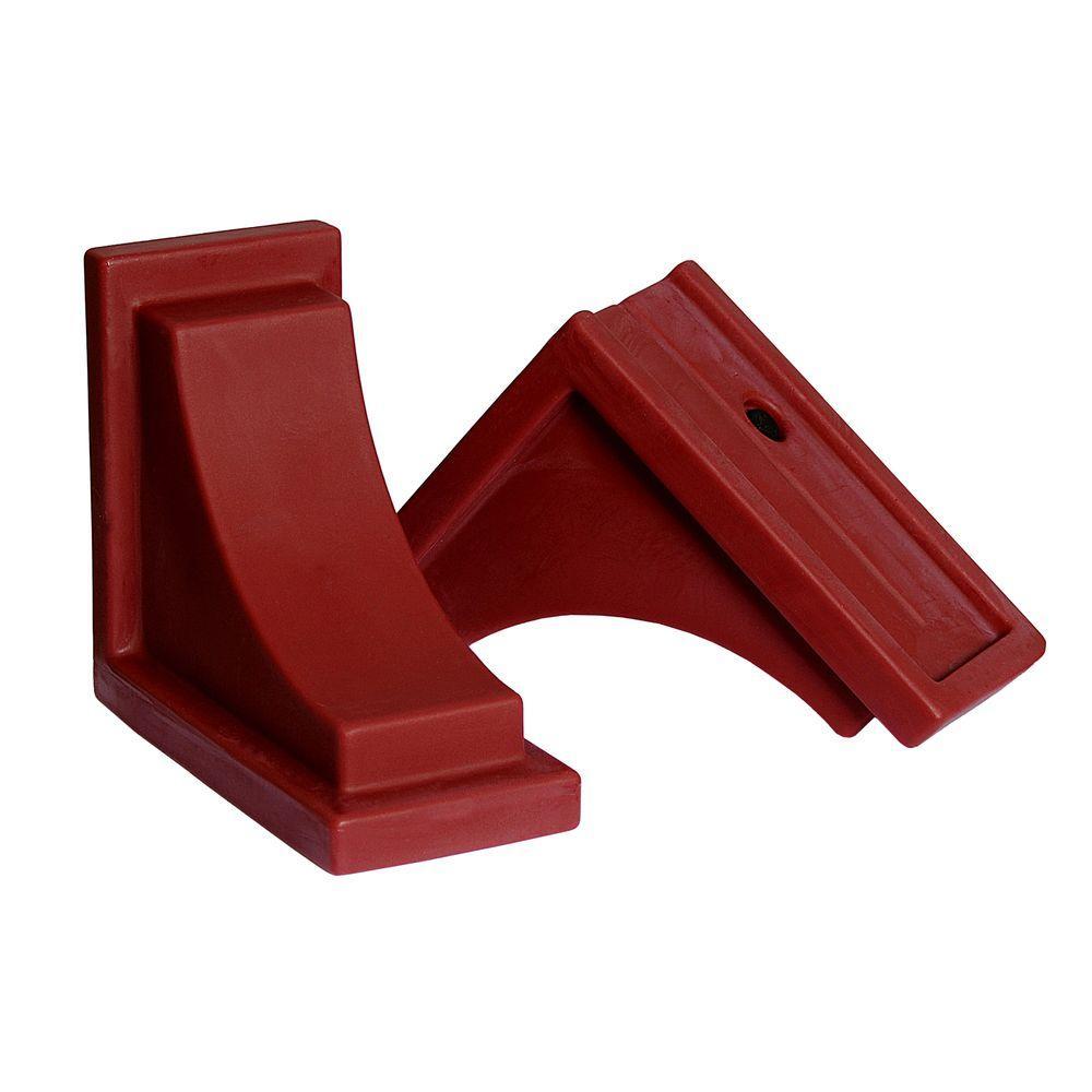 Red Polyethylene Nantucket Decorative Brackets (2-Pack)