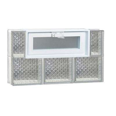 23.25 in. x 15.5 in. x 3.125 in. Diamond Pattern Vented Glass Block Window