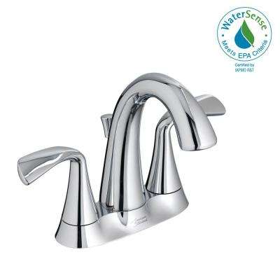 Fluent 4 in. Centerset 2-Handle Bathroom Faucet with Speed Connect Drain in Polished Chrome