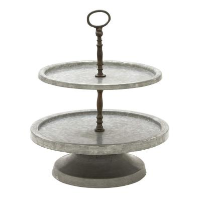 Amazingly Useful Metal 2-Tier Tray Stand