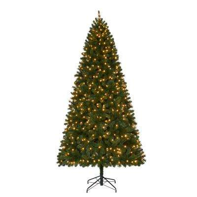 9 ft. Pre-Lit LED Wesley Spruce Artificial Christmas Tree with Color Changing Lights