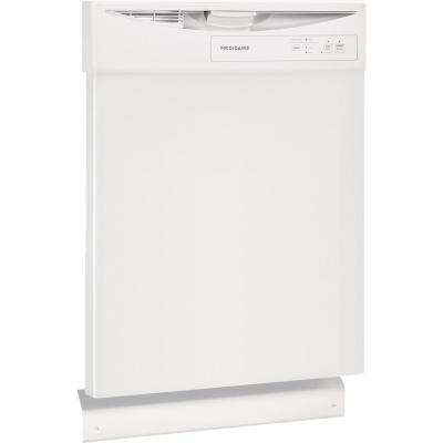 24 in. White Front Control Built-In Tall Tub Dishwasher